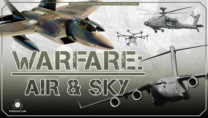 Military Jets, Planes, Helicopters Sound Effects Library – Airforce Warfare Vehicles Air Force MINI PACK