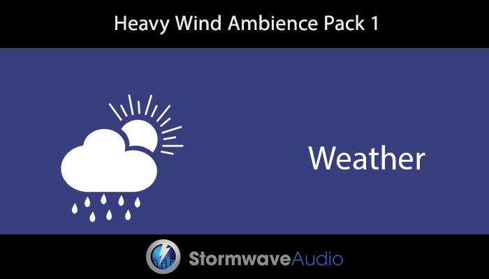 Heavy Wind Ambience Pack 1