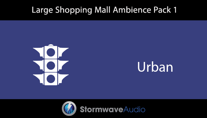 Large Shopping Mall Ambience Pack 1