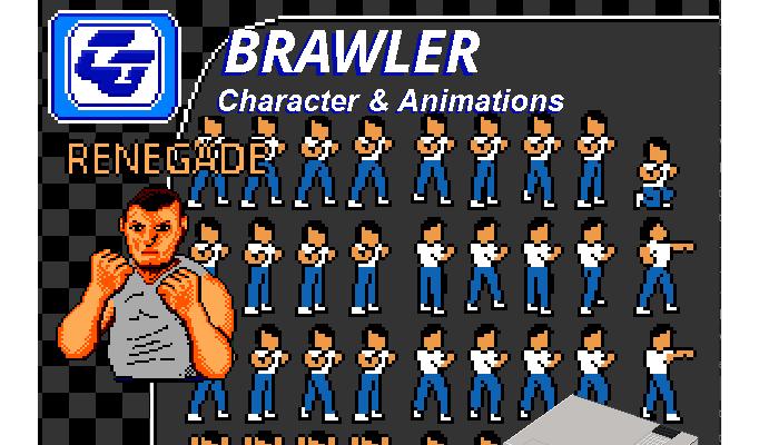 Brawler Asset Character 'Renegade' NES