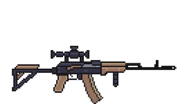ak 74m with modified butt, scope pso-1 and handle