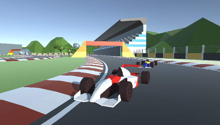 2x Low Poly F1 Cars (+Bonus Track)