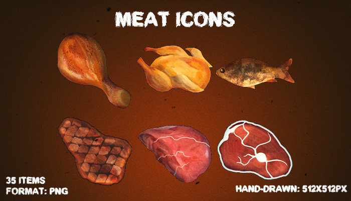 Meat icons [Resource Pack]