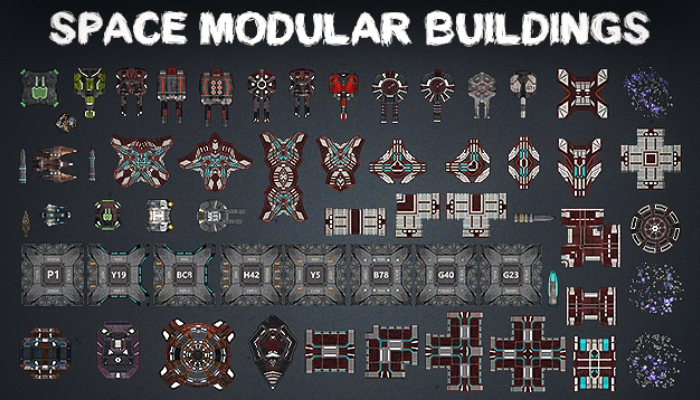 Space Modular Buildings [Sprites Pack]