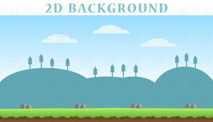 Flat Mountain 2D Backgrounds.