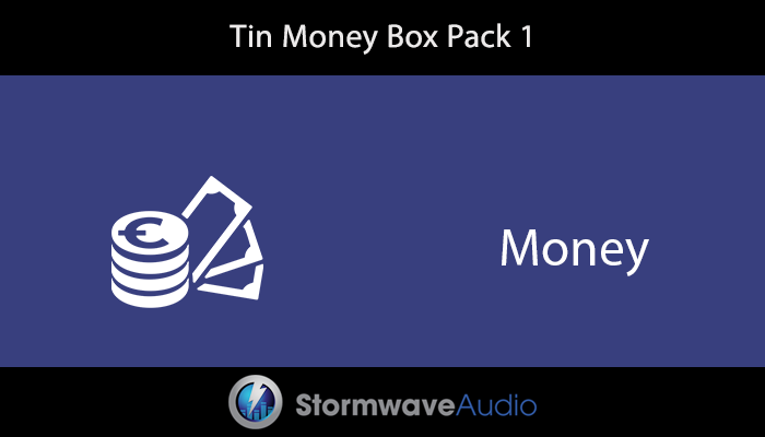 Tin Money Box Sound Effects Pack 1