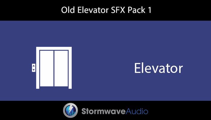 Old Elevator Sound Effects Pack 1