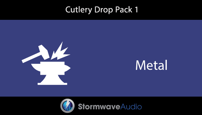 Cutlery Drop Sound Effects Pack 1