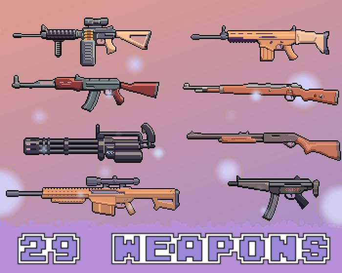 2D Weapon Pixel Guns Pack