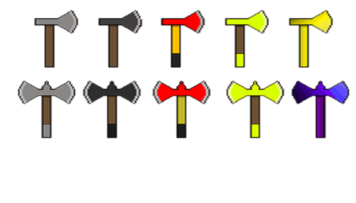 Set of pixel axes