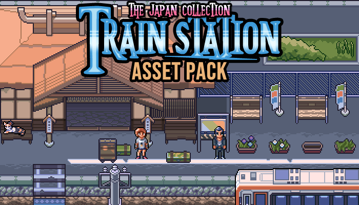 The Japan Collection: Train Station Game Assets