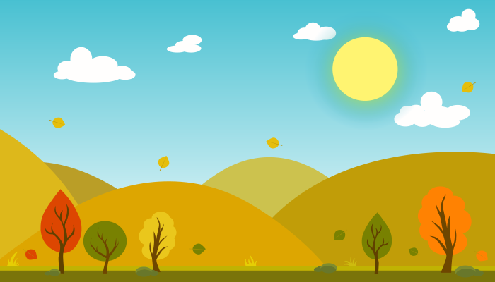 Spring meadow 2D Background