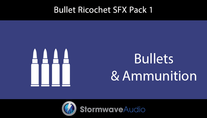 Bullet Ricochet Sound Effects Pack 1