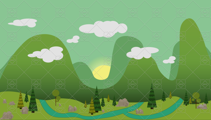Forest Glade 2D Background