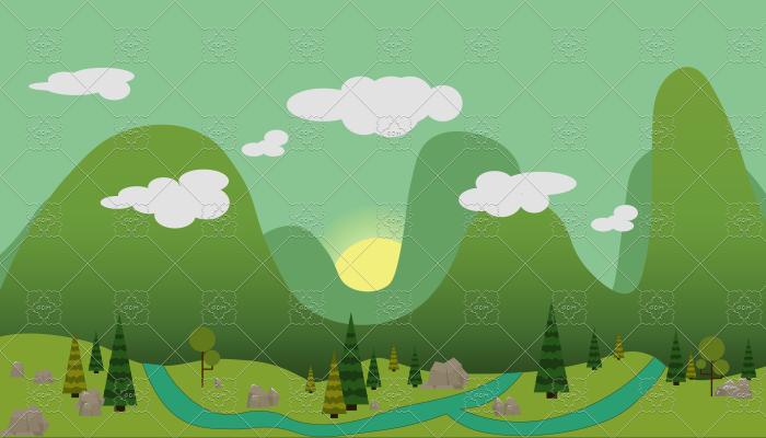 Forest Glade 2D Background