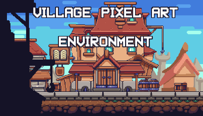 Village Pixelart Environment