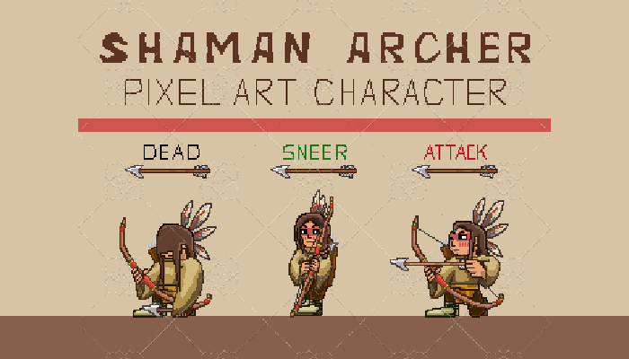 SHAMAN ARCHER Pixel Art Character