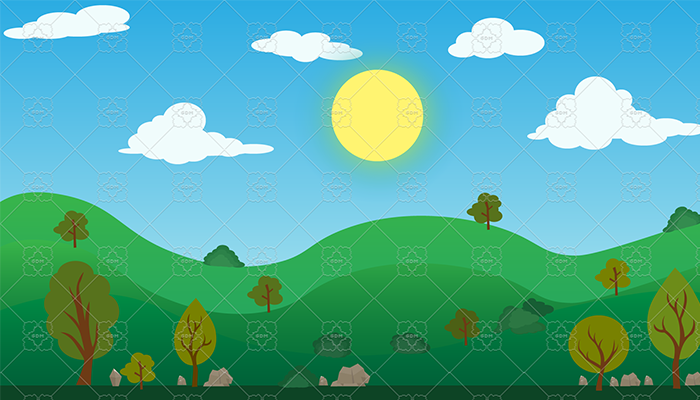Summer fields 2D Backgrounds