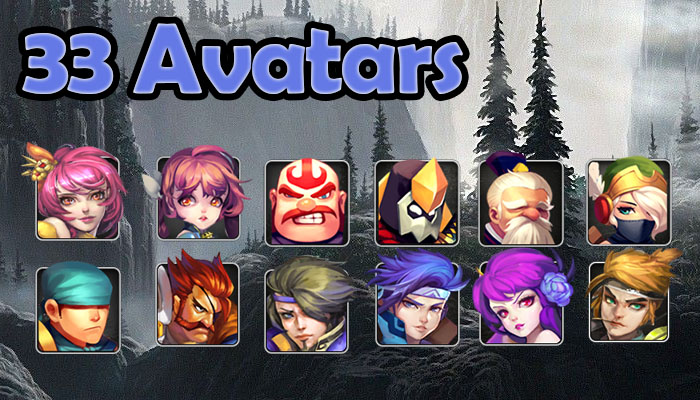 33 Avatar Icons Exclusive!