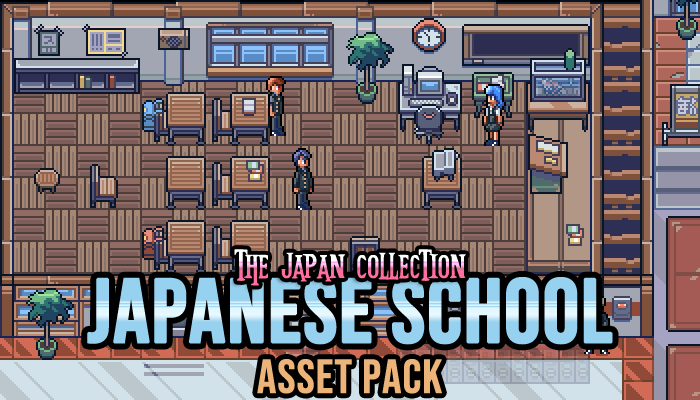 Japanese School Interior Game Assets