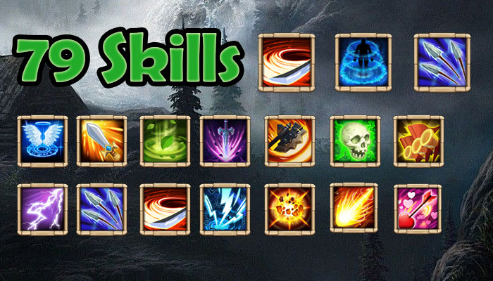 79 Skill Icon/Skills icons with Stone Frame