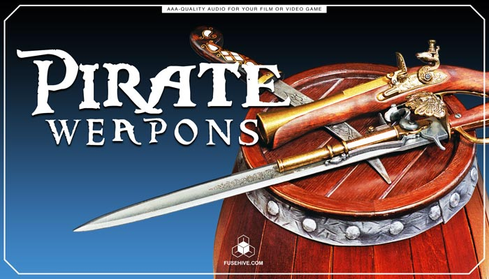 PIRATE WEAPONS SOUND EFFECTS LIBRARY – Caribbean Themed Combat Daggers Swords Knives Muskets Cannons MINI PACK