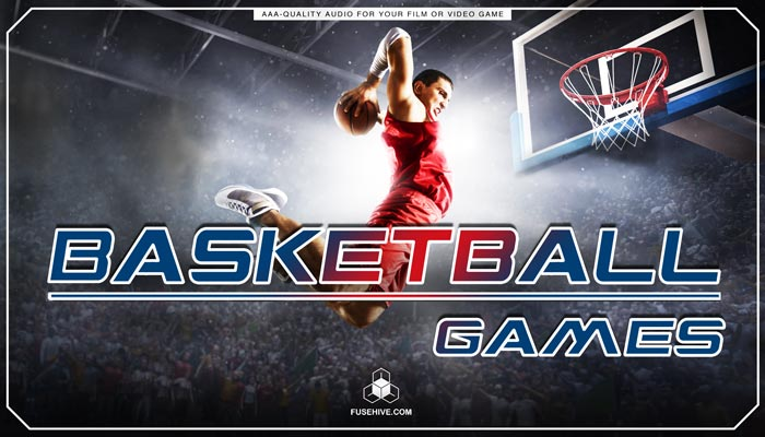 BASKETBALL GAMES SOUND EFFECTS LIBRARY – NBA Style Royalty Free AAA Sounds & Basketball Player Voice Overs Library
