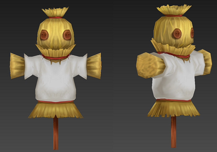 lowpoly Scarecrow