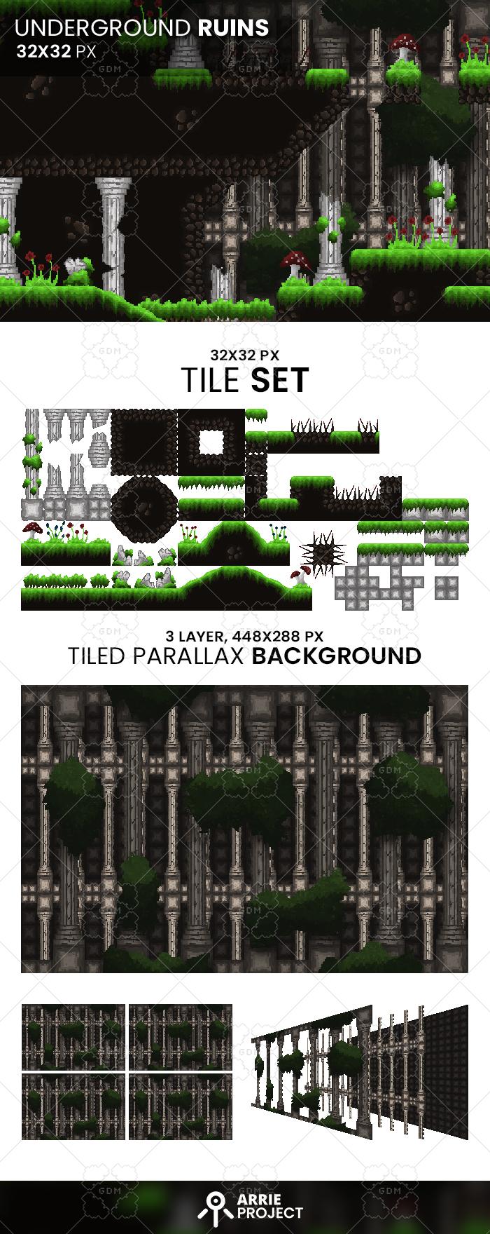 Underground Ruins 32×32