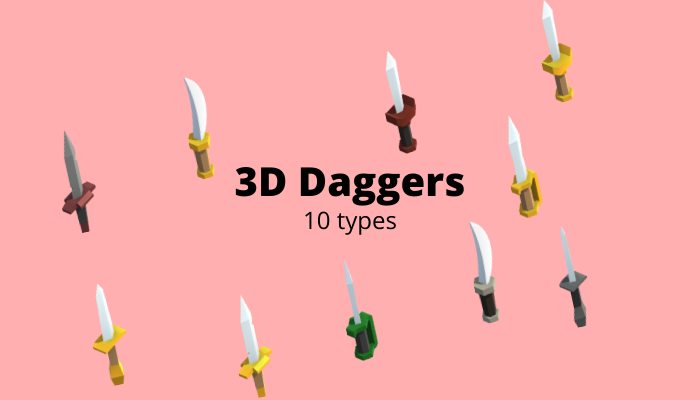 3D Dagger (Short sword or Knife)