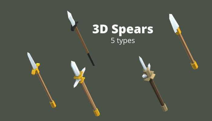 3D Spear Weapons