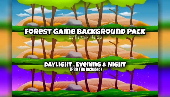 Forest Game backgrounds Pack