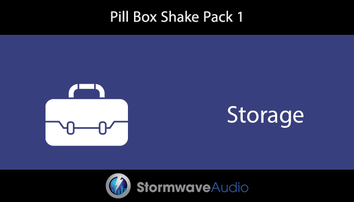 Pill Box Shake Sound Effects Pack 1