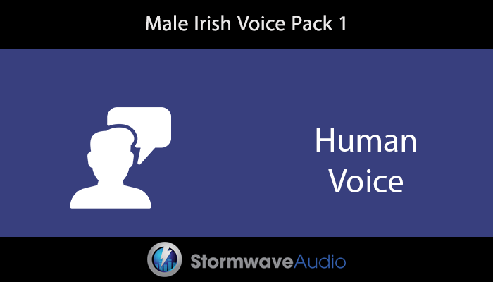 Male Irish Voice Pack 1