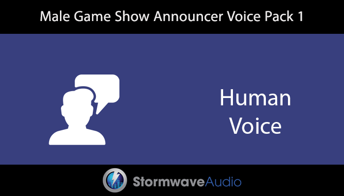 Male Game Show Announcer Pack 1