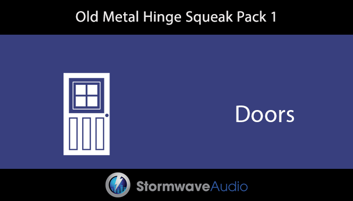Old Metal Hinge Squeak Sound Effects Pack 1