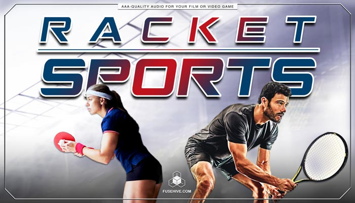 RACKET SPORTS SOUND EFFECTS LIBRARY and VOICE OVERS – Tennis Squash Badminton Royalty Free AAA Sound Effects & Athlete Voices Pack