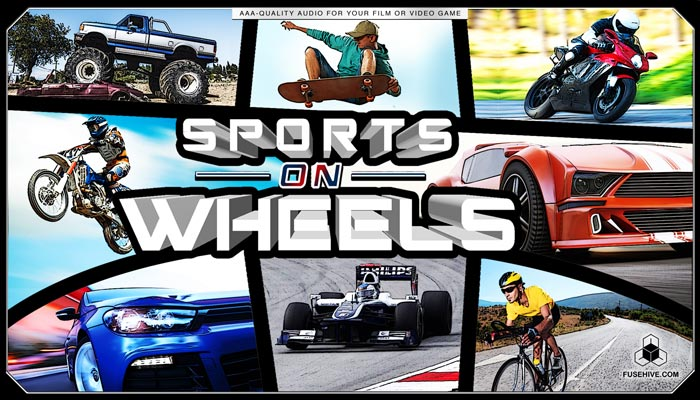 CAR RACING, BICYCLES, SKATEBOARDING, and MOTORSPORTS SOUND EFFECTS LIBRARY – Motorcycles Sports on Wheels Audio Pack