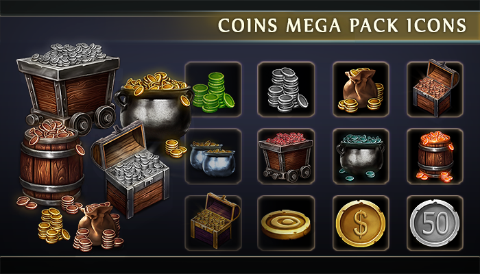 Coins Mega Pack Icons