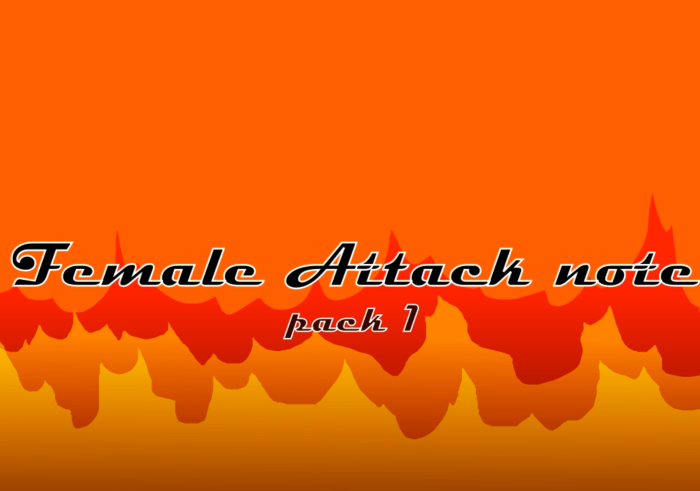 Female Attack note pack 1