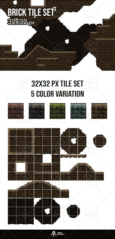 Brick tile set 32×32