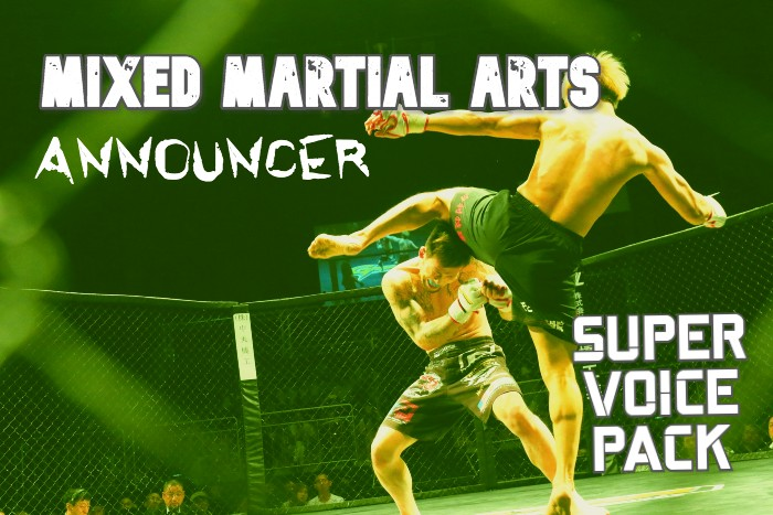 MIXED MARTIAL ARTS ANNOUNCER SUPER VOICE PACK