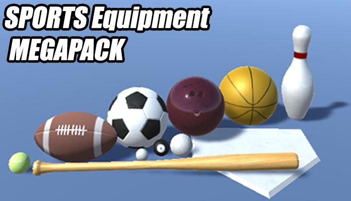 PBR Sports Equipment Megapack
