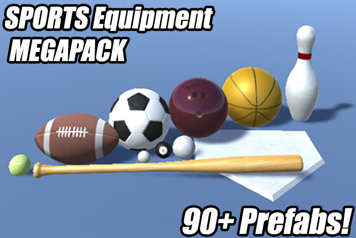 PBR Sports Equipment Megapack