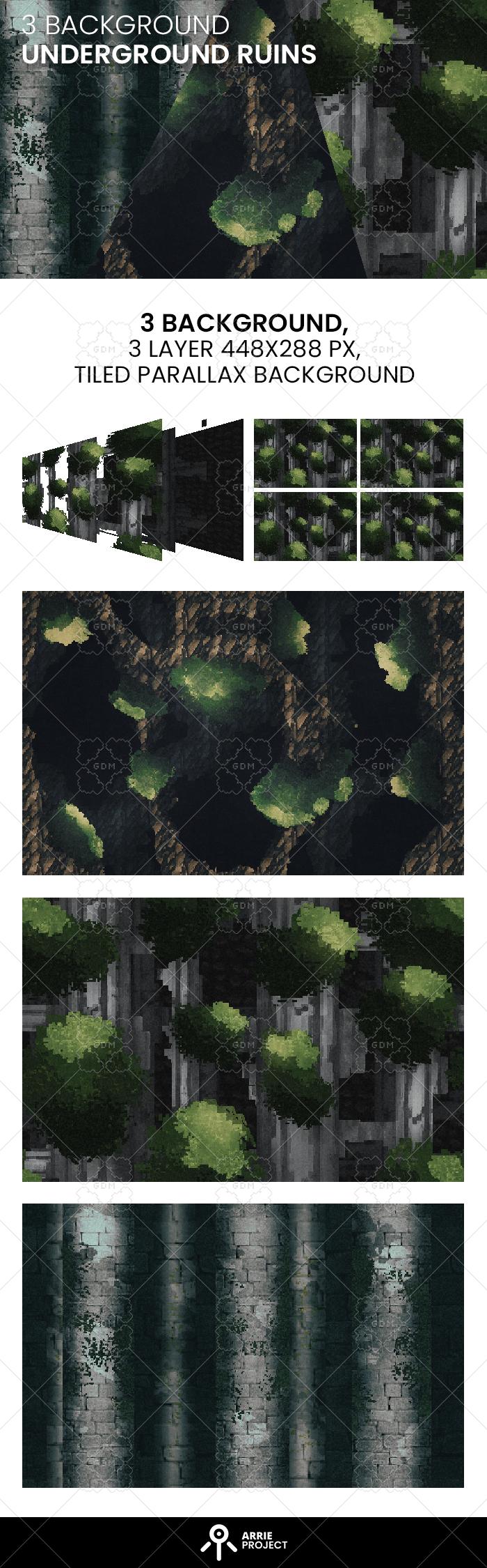 3 Underground Ruins Background