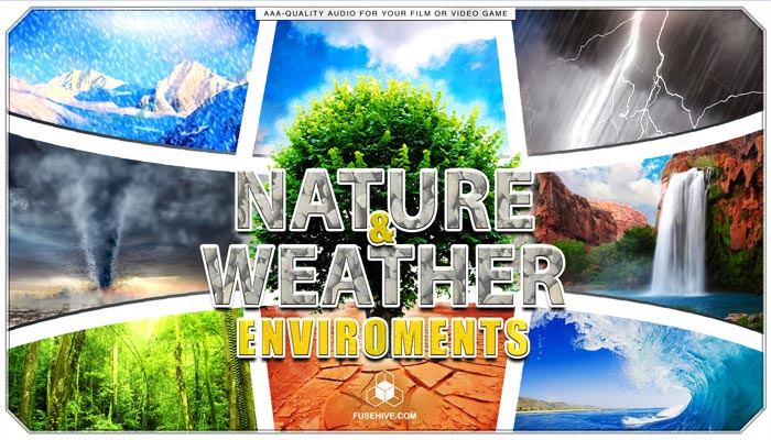 Weather & Nature Sound Effects Library – Global Environments of Earth Rain Forest Ocean Wind Background Audio Ambiences