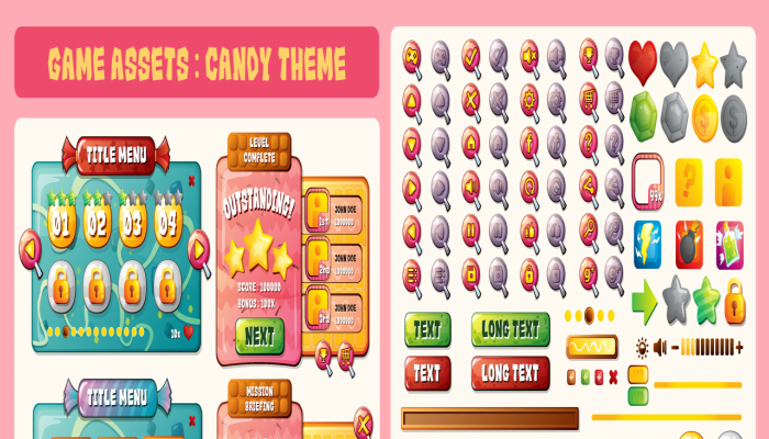 candy theme interface