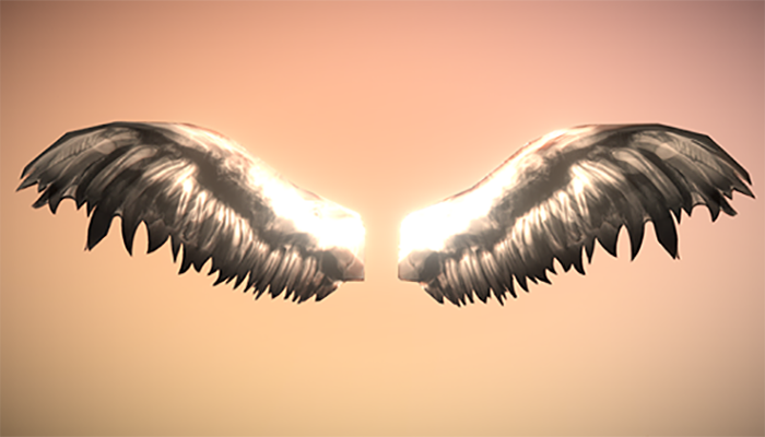Low Poly Angel Wings
