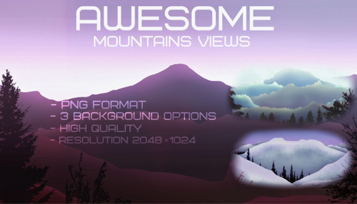 Awesome mountains background