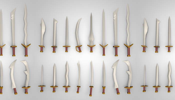 Low Poly Swords Pack